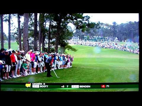 Tiger Woods 2010 Masters hook around trees