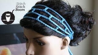 Download Crochet Tutorial: Mesh Headband (Great for beginners!) 3Gp Mp4