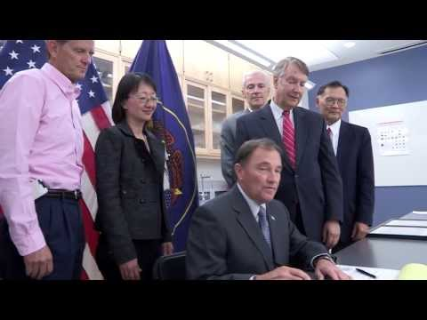 Utah Governor Gary Herbert signs University of Utah School of Medicine funding bill
