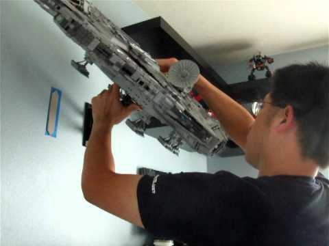 Lego 10179 Ucs Sw Millennium Falcon Wall Mount Moc Youtube