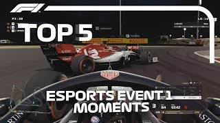 Top 5 Moments | F1 Esports Pro Series 2019 Event 1