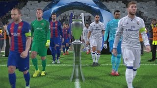 PES 2017 UEFA Champions League Final (Real Madrid vs FC Barcelona Gameplay)