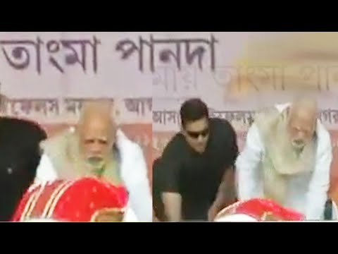 Tripura CM Biplab Deb touches PM Modi's feet after taking oath, Watch | Oneindia News