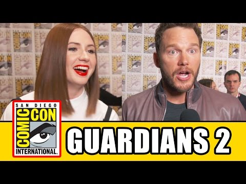 GUARDIANS OF THE GALAXY 2 Comic Con Interviews - Chris Pratt, Karen Gillan, Zoe Saldana