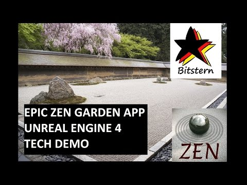 Epic Zen Garden App   Unreal Engine 4 Tech Demo Review - First Impressions iOS 8.1 (iPhone/iPad)