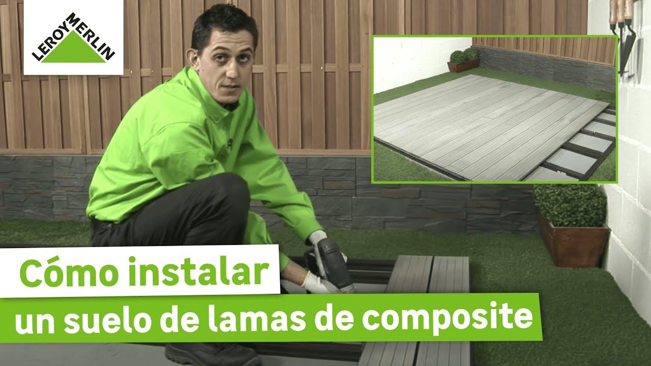 C mo instalar un suelo de lamas de composite en tu jard n leroy merlin youtube - Toile de vernieuwing leroy merlin ...