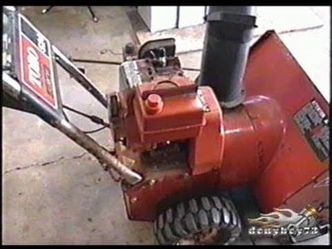 HOW TO REBUILD Carburetor on 4-5HP Tecumseh Snowblower Engine Part 1/3