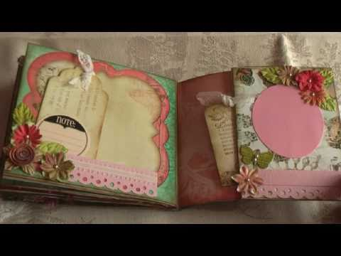 Scrapbooking Gabrielle paper bag mini album
