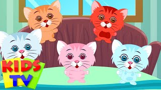 Five Little Kittens | English nursery rhymes for children | baby songs