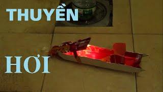 Làm Thuyền động cơ Hơi Nước chạy bằng Nến - đồ chơi