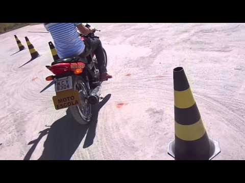 """Cris Nogueira Cat: """"A"""" INST: Ensina passo à passo de Baliza de moto em Vídeo, prova prática.PVH/RO"""