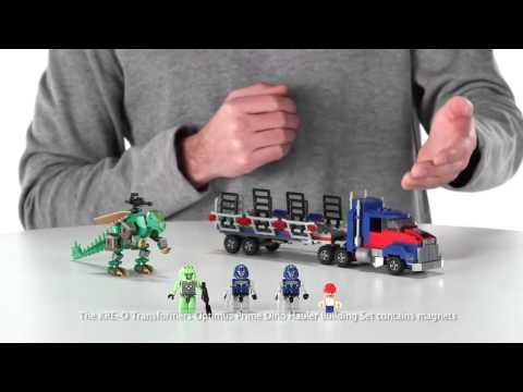 Transformers 4 Age of Extinction Kre-O Optimus Prime Dino Hauler Set