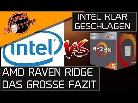 INTEL KLAR GESCHLAGEN - AMD RYZEN RAVEN RIDGE 2400G und 2200G - Das Fazit | DasMonty