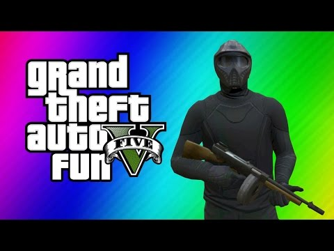 GTA 5 Online Funny Moments - Ninja Noobs, Bane, Invisibility Glitch (Last Team Standing DLC)