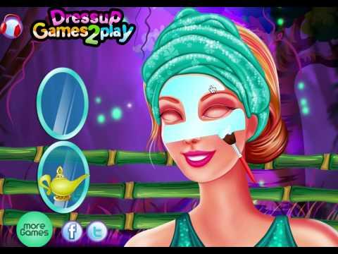Игры барби одевалки и макияж для девочек