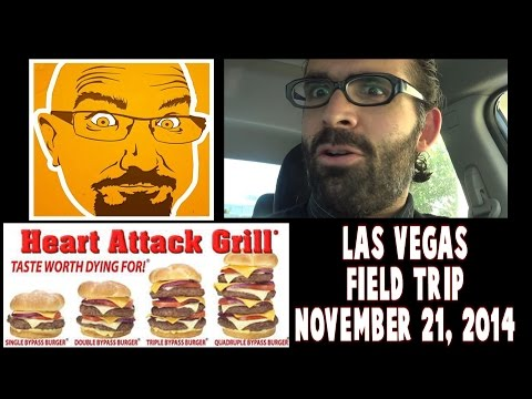 Las Vegas Tag Team: Heart Attack Grill w/ KBD Productions 11/19/14 | FreakEating Field Trip