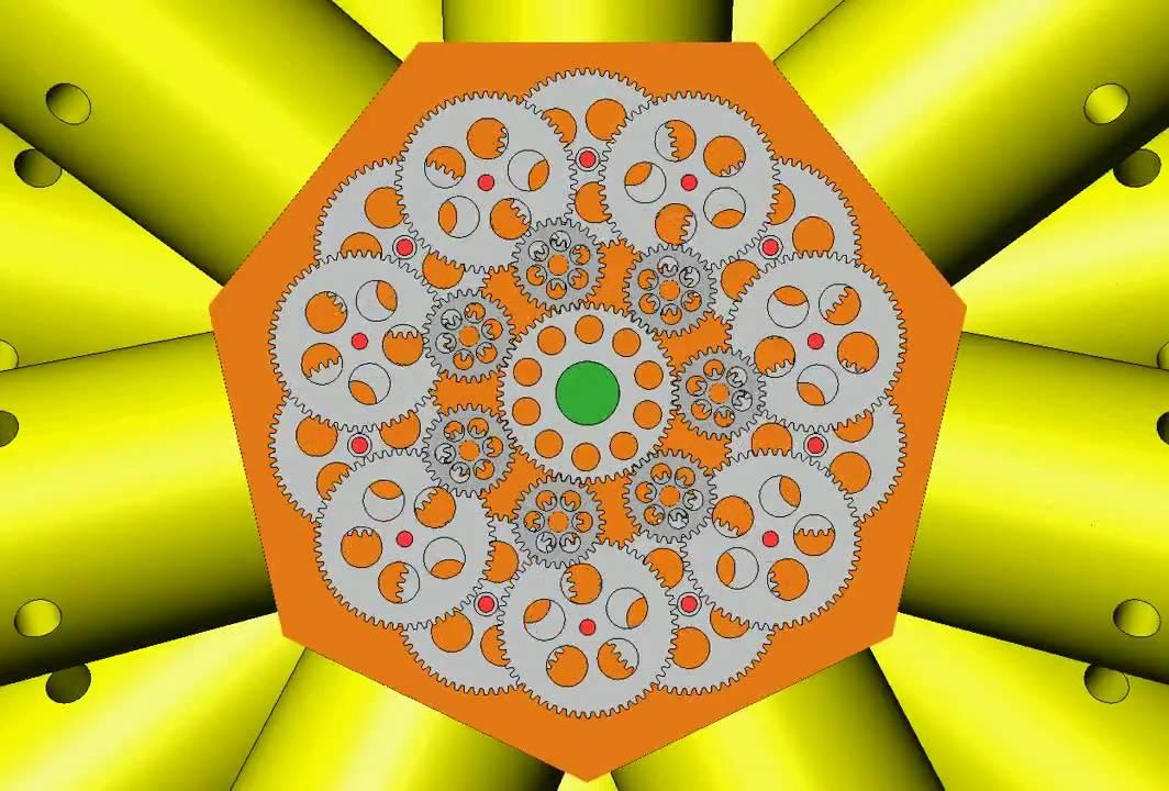 bristol hercules sleeve valve radial animation