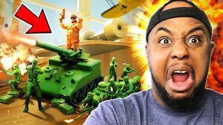 KEVIN vs 1000 TOY ARMY SOLDIERS | Attack on Toys