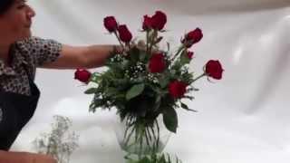 Como hacer un Arreglo de Rosas Rojas