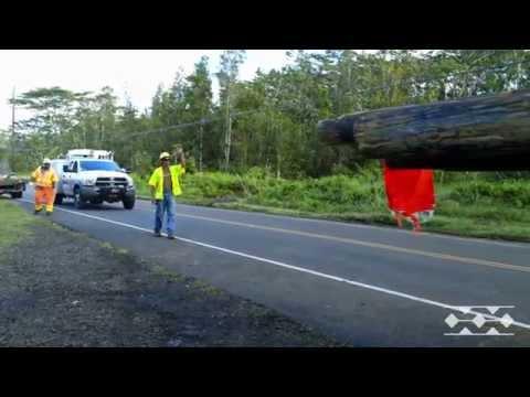 Power restoration efforts on Hawaii Island