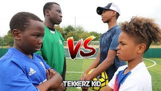 TEKKERZ KID vs BEAST GK | Bro vs Bro Crossbar Challenge!!