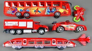 Learning Street Vehicles Names And Sounds With Toys For Kids Train With Emergency Vehicles For Kids