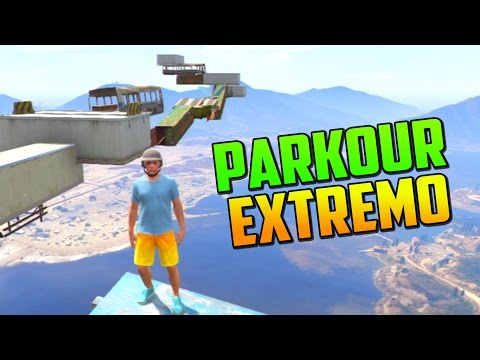 PARKOUR EXTREMO!!!!! - Gameplay GTA 5 Online Funny Moments