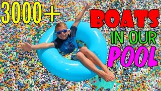 MICRO BOATS INVADE OUR POOL!!