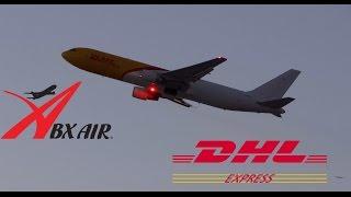 ABX Air *(DHL) Boeing 767-300ER(F) Takeoff LAX