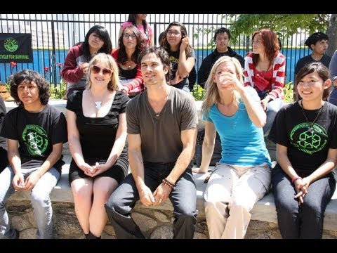 Ian Somerhalder Visits Compton High School's Recycling Club