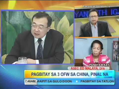Unang Hirit Talakayan with Igan: Death Sentence for 3 OFWs in China, Final!
