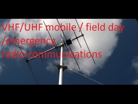 mobile / emergency / field day vhf/uhf radio communications set up