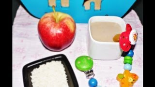 ♥Compota de arroz y manzana/Compote rice and Apple♥Embarazoymuchomas