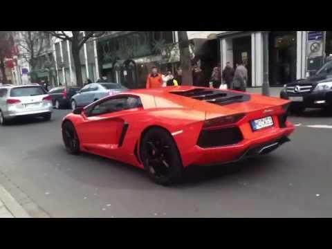 A Aventador with very brutal Sound is in the Last Time in Düsseldorf Instagram: supercarsduesseldorf.