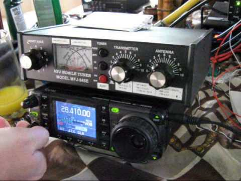HI3/N2YDD with K8OMI HF radio conversation - Amateur Radio 10 Meters