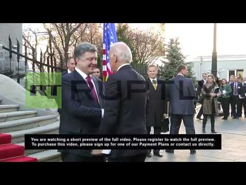 Ukraine: US VP Joe Biden meets Poroshenko on Maidan anniversary