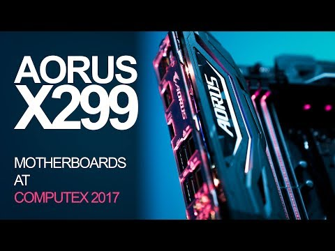 New Aorus X299 Motherboards for Intel i9 CPUs + Next Level RGB Tech!