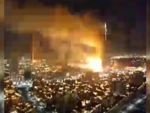 Raw: Explosion in Dubai Hotel Fire