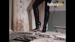 Liz Stiletto Boots Truck Crush