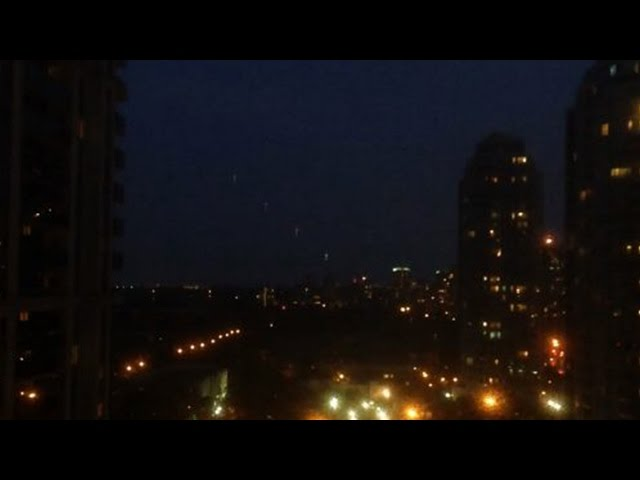 UFO's Spotted Over Toronto (July 2014) - Creepy Footage