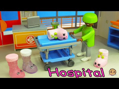 Craziest Day At the Playmobil Childrens Hosptial - Crazy Weird Shopkins Medical Video