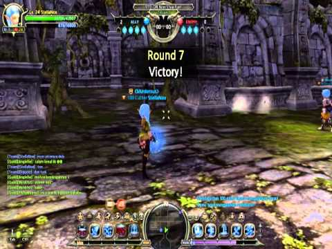 Dragon Nest Indonesia Bow Master (Hunter) lvl 24 pvp gameplay