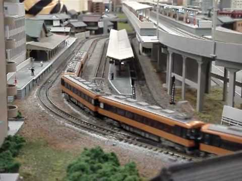 Nゲージ走行・近鉄18200系 N gauge run / Kintetsu series 18200