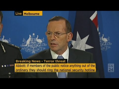 Abbott announces terrorism threat raised to 'high'