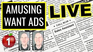 🍎 Amusing Want Ads #1   Improve Your English   LIVE English Lesson