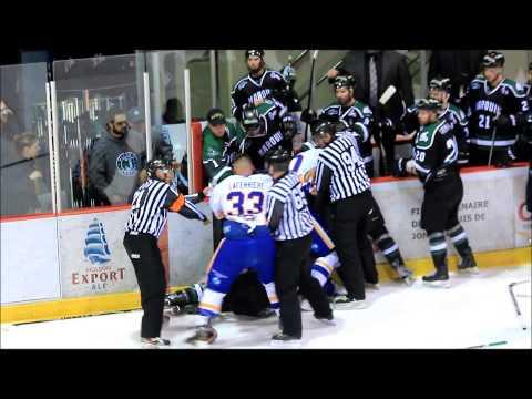 Hockey Fights / Steve Bossé  c'est 6 combats 2014-2015