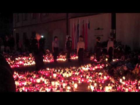 Day before Kaczynski's Funeral