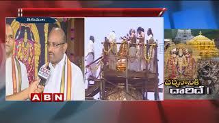 TTD  to allow temple darshan for devotees during Maha Samprokshanam