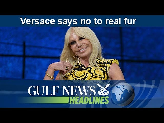 Versace says no to real fur - GN Headlines