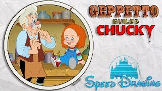Geppetto Builds Chucky - 🎃 Speed Drawing 🎃